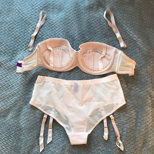 Agent Provocateur Intimates   Sleepwear - NWOT Penelope Set  Strapless Bra    Suspender Brief 3697fa10a